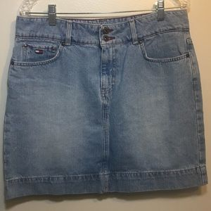Vintage Tommy skirt 2000's denim Jean light washed
